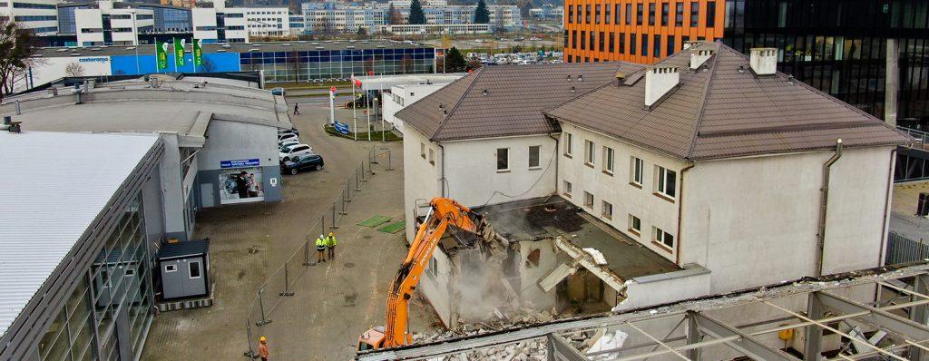 Wyburzenie budynku i demontaż hali Skoda Plichta Gdańsk